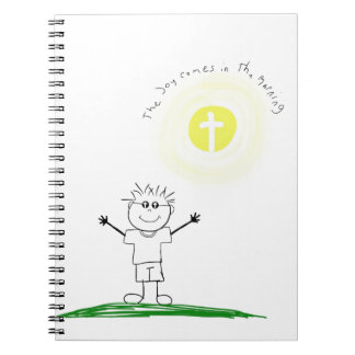 Cute Christian character with scripture Notebooks