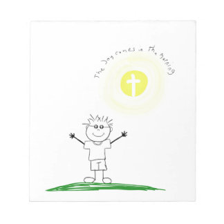 Cute Christian character with scripture Notepad