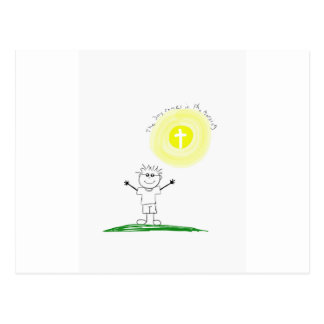 Cute Christian character with scripture Postcard