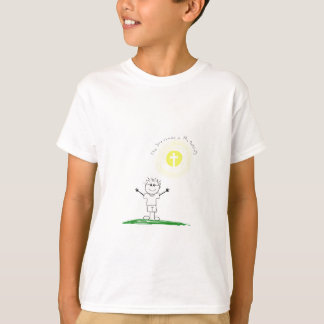 Cute Christian character with scripture T-Shirt