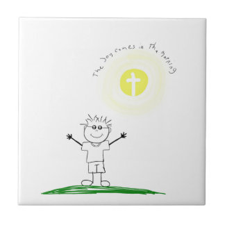 Cute Christian character with scripture Tiles