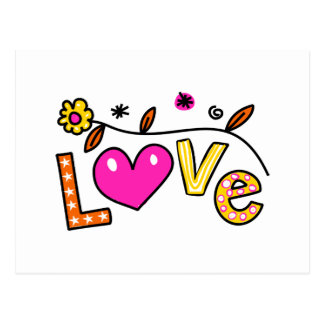 Cute Christian Love Greeting Text Expression Postcard