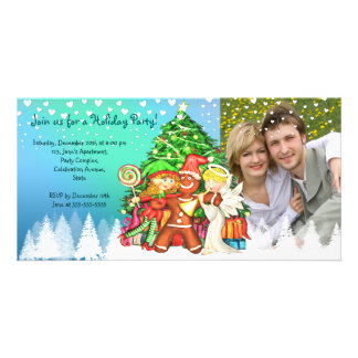 Cute Christmas 100% personalized  photo invitation Photo Card Template