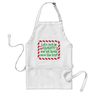Cute Christmas Apron, Let's be Naughty!! Standard Apron