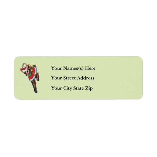 Cute Christmas Baby Deer Address Sticker