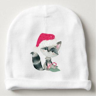 Cute Christmas Baby Raccoon Baby Beanie