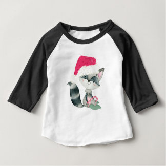 Cute Christmas Baby Raccoon Baby T-Shirt