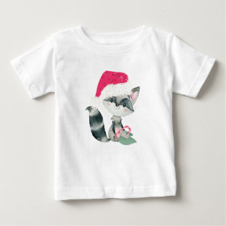 Cute Christmas Baby Raccoon Baby T-Shirt