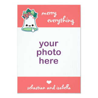 Cute Christmas Bell 5x7 Paper Invitation Card
