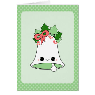 Cute Christmas Bell Note Card