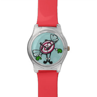 CUTE CHRISTMAS CANDY GIRL HOLIDAY PLASTIC WATCH