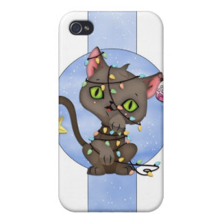 Cute Christmas Cat i - Holiday Cat iPhone 4/4S Covers