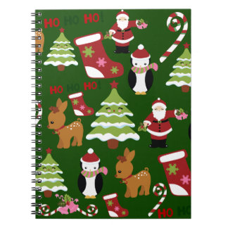 Cute Christmas Collage Design with Santa Notebooks