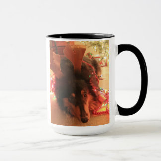 Cute Christmas Collie, Olive the OTHER reindeer Mug
