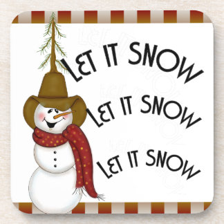 Cute Christmas Cowboy Snowman Coasters