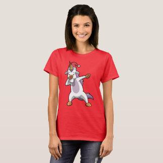 Cute Christmas Dabbing Unicorn Dab T-Shirt