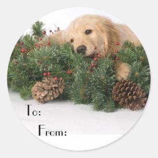Cute Christmas Dog Gift Tags