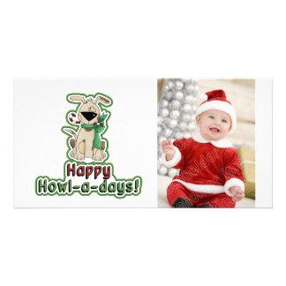 Cute Christmas Dog Photo Greeting Card