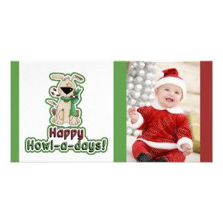 Cute Christmas Dog Customized Photo Card