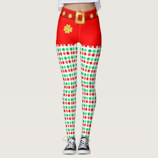 Cute Christmas dotted leggings