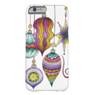 Cute Christmas, Elegant and Fancy Glass Ornaments Barely There iPhone 6 Case