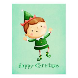 Cute Christmas Elf Postcard