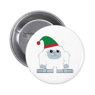 Cute Christmas Elf Yeti 2 Inch Round Button