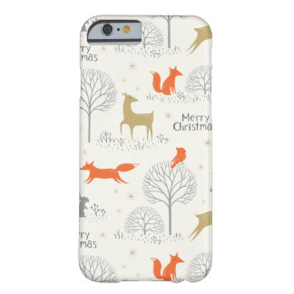 Cute Christmas forest deer rabbit - Xmas gifts Barely There iPhone 6 Case