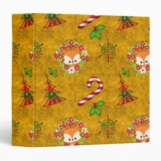 Cute Christmas Fox Binders