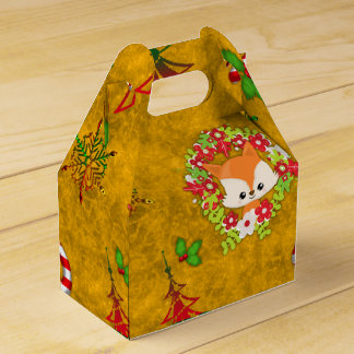 Cute Christmas Fox Favor Box