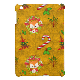 Cute Christmas Fox iPad Mini Cases
