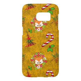 Cute Christmas Fox Samsung Galaxy S7 Case