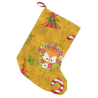 Cute Christmas Fox Small Christmas Stocking