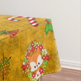 Cute Christmas Fox Tablecloth
