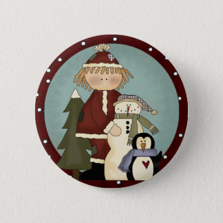 Cute Christmas Friends 2 Inch Round Button