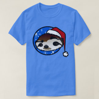 CUTE CHRISTMAS HOLIDAY SLOTH SHORT SLEEVE T-SHIRT