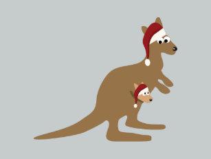 Christmas Kangaroo Cartoon.Santa Kangaroo Cards Greeting Cards More Zazzle Ca