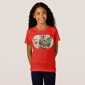 Cute Christmas kitten girls t-shirt