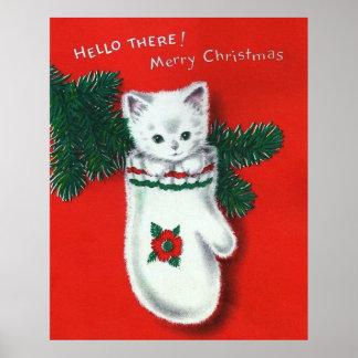 Cute Christmas Kitten Poster