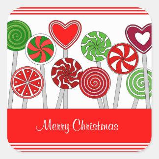 Cute Christmas Lollipops Sticker