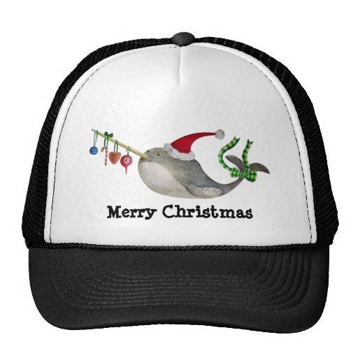 Cute Christmas Narwhal Mesh Hats