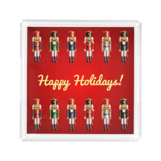 Cute Christmas Nutcracker Soldiers Acrylic Tray
