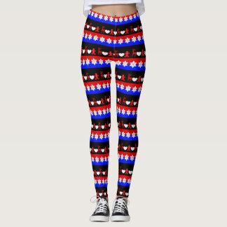 Cute Christmas Patterned Colorful Festive Leggings