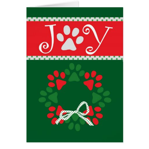 Cute Christmas Paw Prints Card