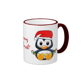 Cute Christmas Penguin Cartoon Coffee Mug