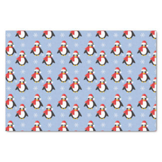 Cute Christmas Penguins Pattern Tissue Paper