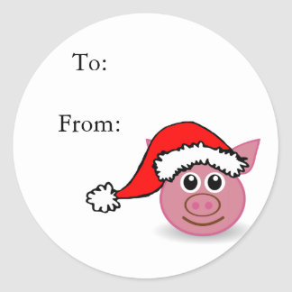 Cute Christmas Pig Gift Tags