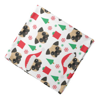 Cute Christmas Pug Bandana
