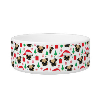 Cute Christmas Pug Bowl