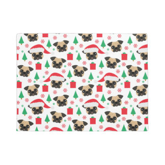 Cute Christmas Pug Doormat